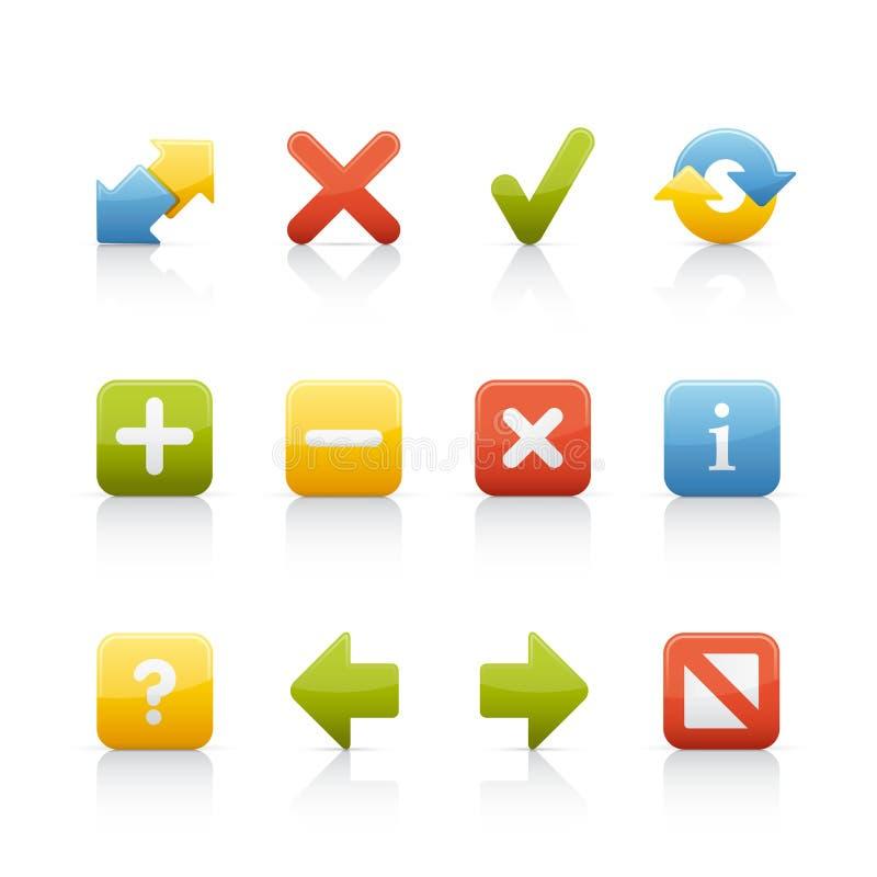 Ícone ajustado - teclas 2 da navegação ilustração royalty free