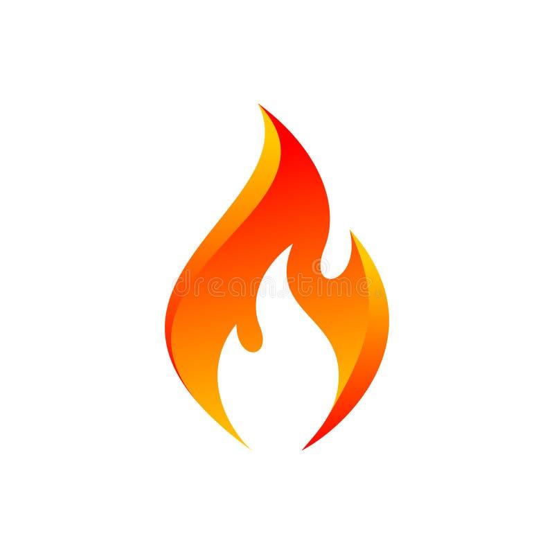 Ícone alaranjado da chama do vetor ilustração royalty free