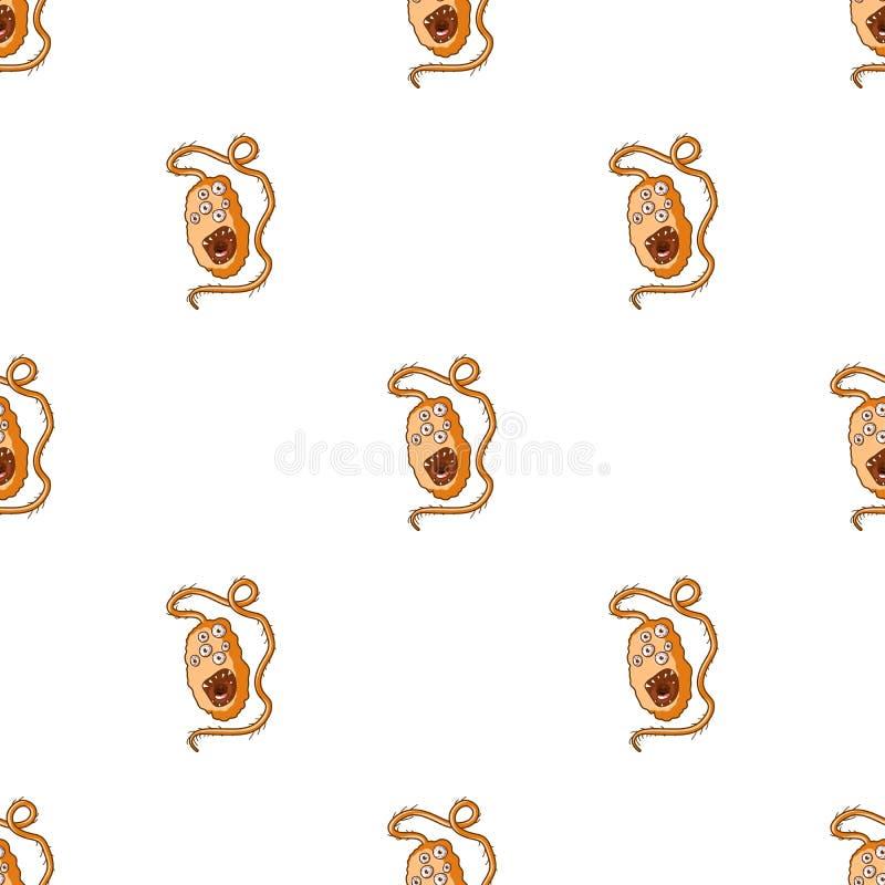 Ícone alaranjado do vírus no estilo dos desenhos animados isolado no fundo branco Vírus e ilustração do vetor do estoque do símbo ilustração stock