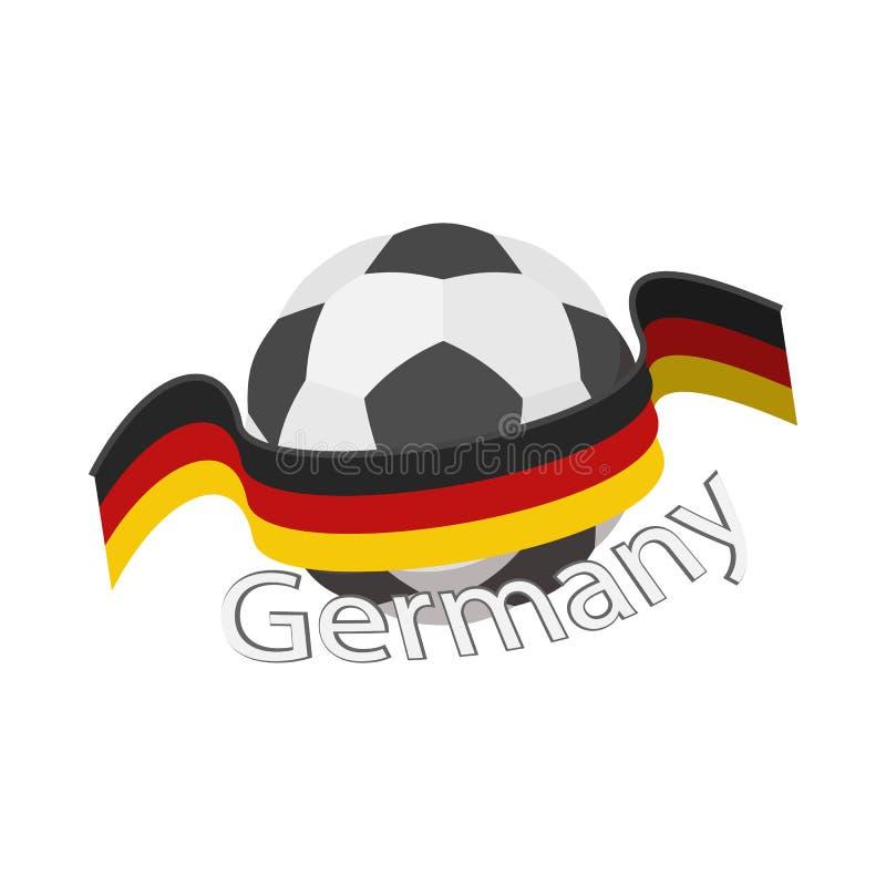 Ícone alemão da equipa de futebol, estilo dos desenhos animados ilustração stock