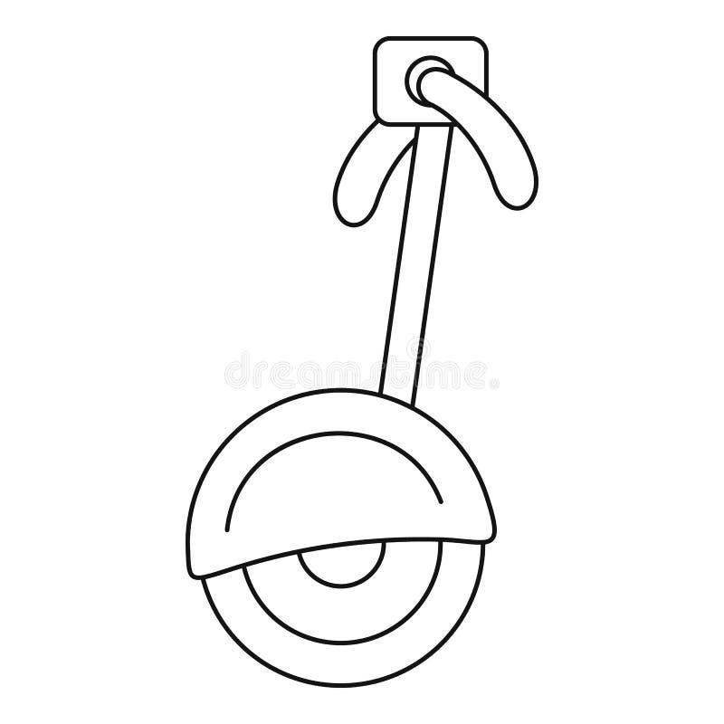 Ícone alternativo do veículo de transporte, estilo do esboço ilustração royalty free