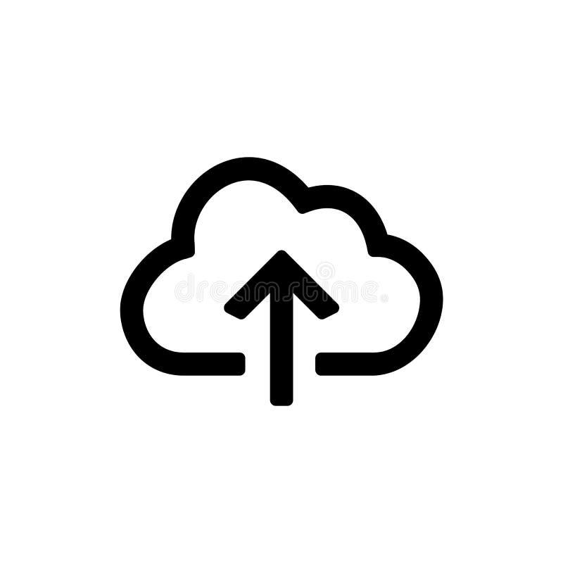 Ícone alternativo e da restauração dos dados da nuvem para o projeto liso simples do ui do estilo ilustração royalty free