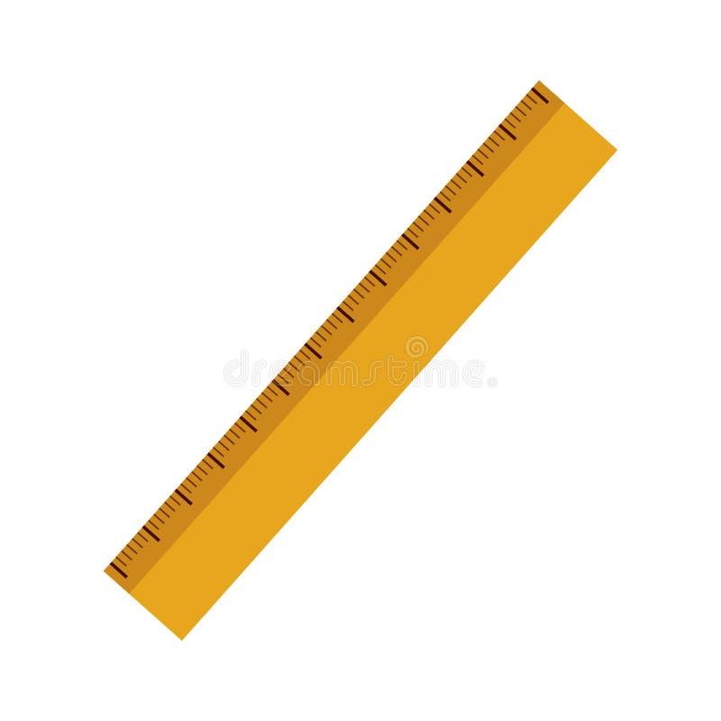 Ícone amarelo da régua ilustração do vetor