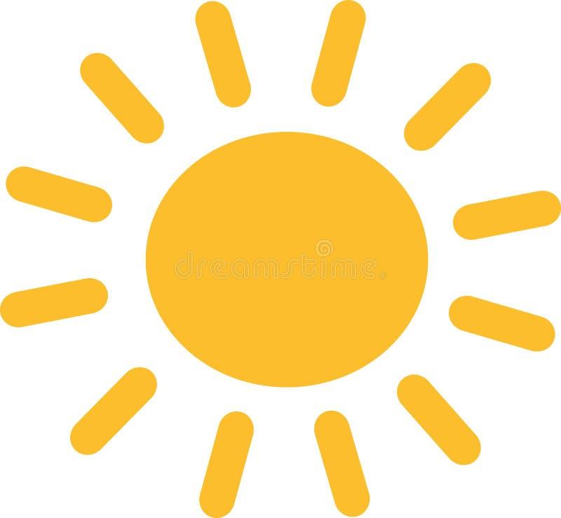 Ícone amarelo de Sun ilustração royalty free