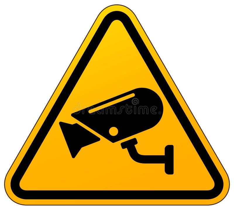 Ícone amarelo do sinal do cctv do vetor ilustração stock