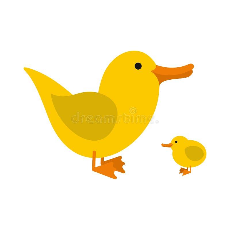 Ícone amarelo dos patinhos ilustração royalty free