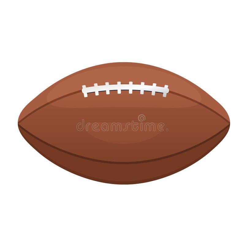 Ícone americano ou canadense do vetor do futebol Eq de couro da bola do esporte ilustração royalty free