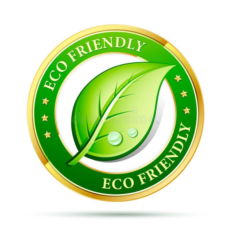 Ícone amigável de Eco ilustração royalty free