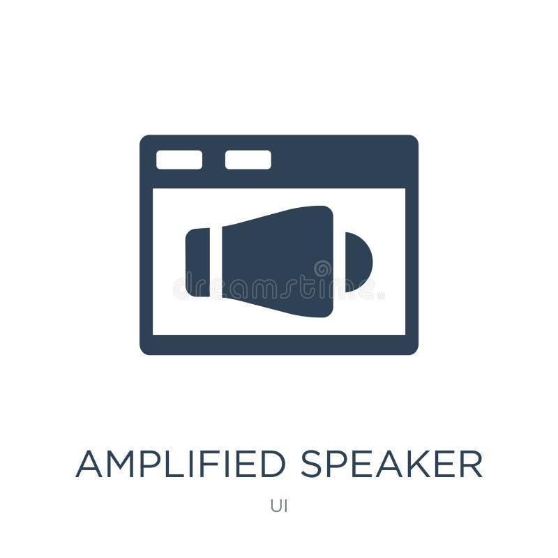 ícone amplificado do orador no estilo na moda do projeto ícone amplificado do orador isolado no fundo branco ícone amplificado do ilustração royalty free