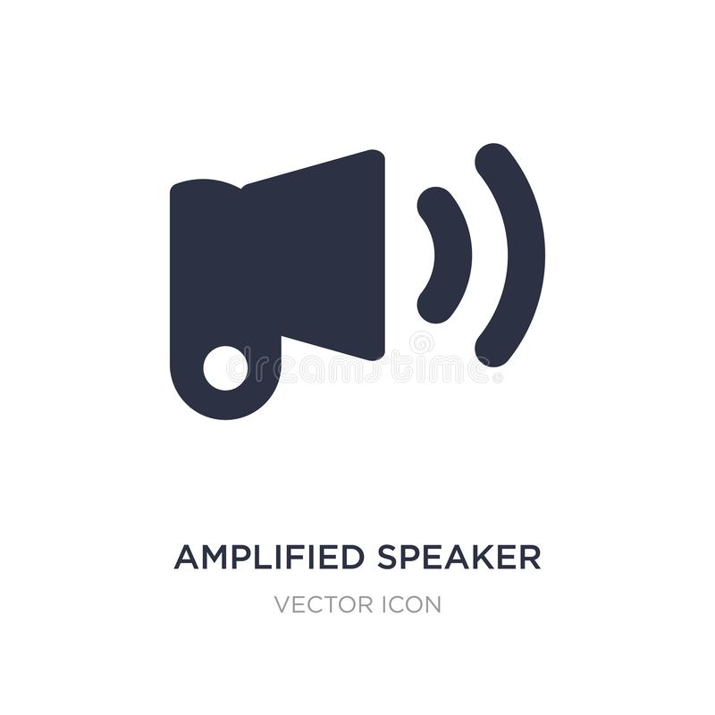 ícone amplificado do orador no fundo branco Ilustração simples do elemento do conceito de UI ilustração royalty free