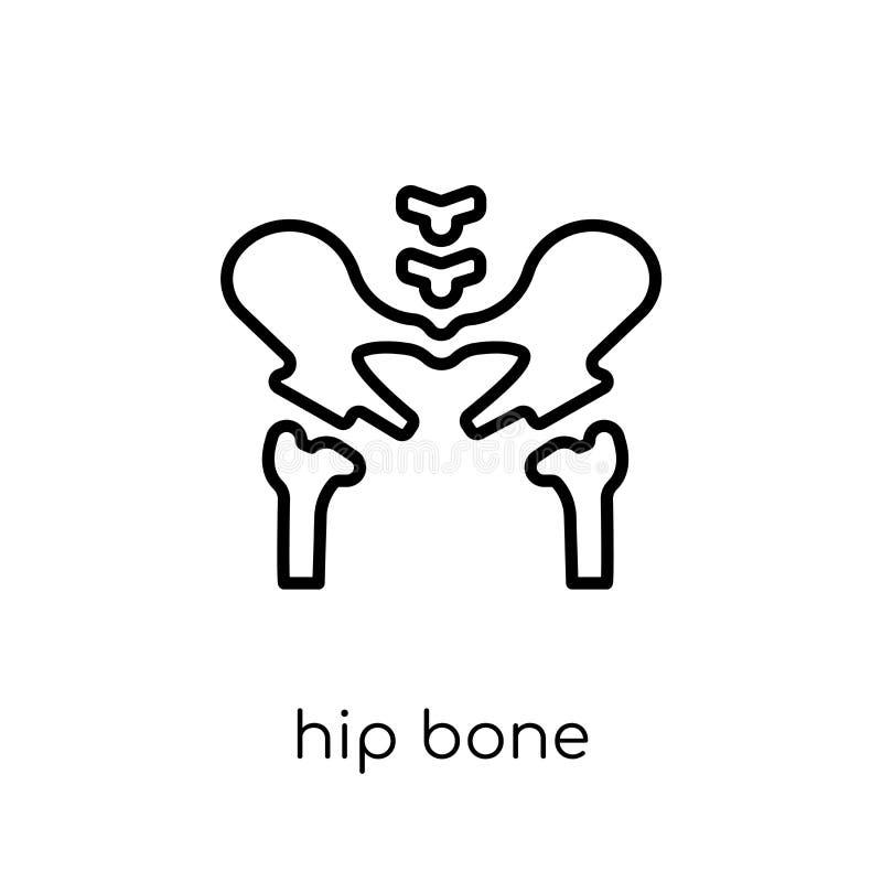 Ícone anca do osso Ícone anca do osso do vetor linear liso moderno na moda sobre ilustração stock
