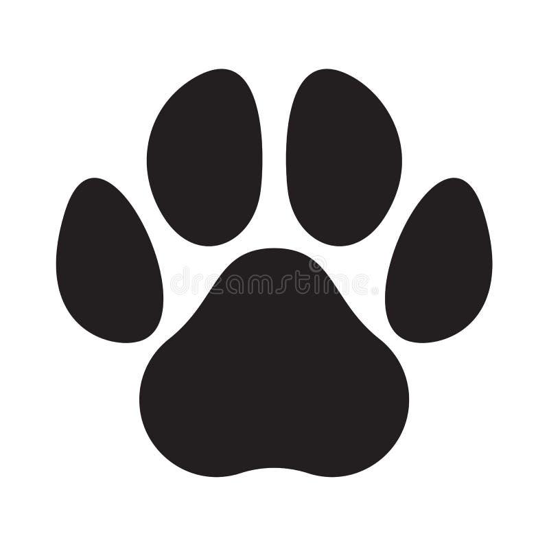 Ícone animal da pegada do vetor do animal de estimação do cão do gato do logotipo da pata ilustração do vetor