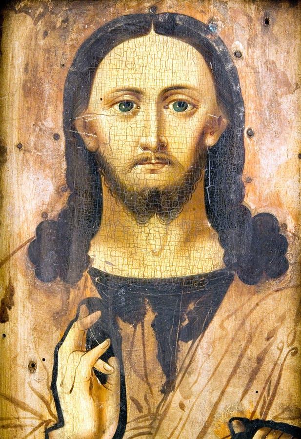 Ícone antigo da igreja. fotografia de stock royalty free