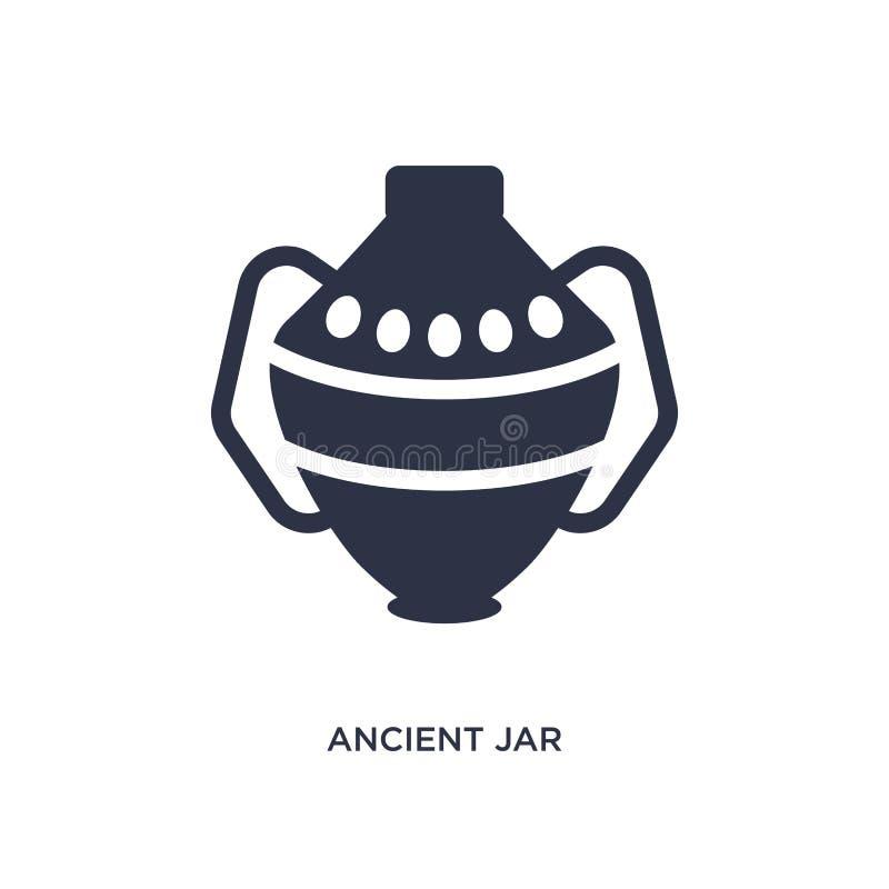 ícone antigo do frasco no fundo branco Ilustração simples do elemento do conceito da história ilustração stock