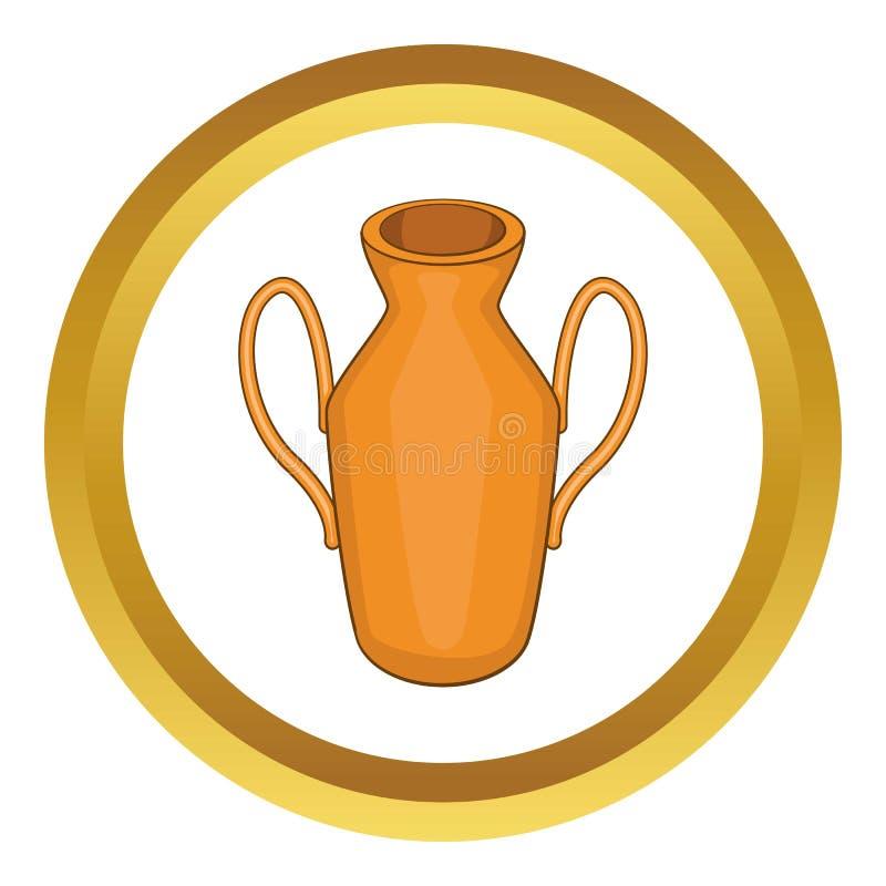 Ícone antigo do vaso ilustração do vetor