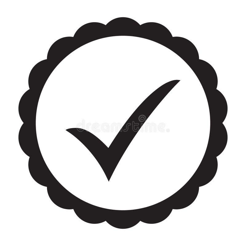 ícone aprovado Verificação do perfil Aceite o crachá ilustração royalty free