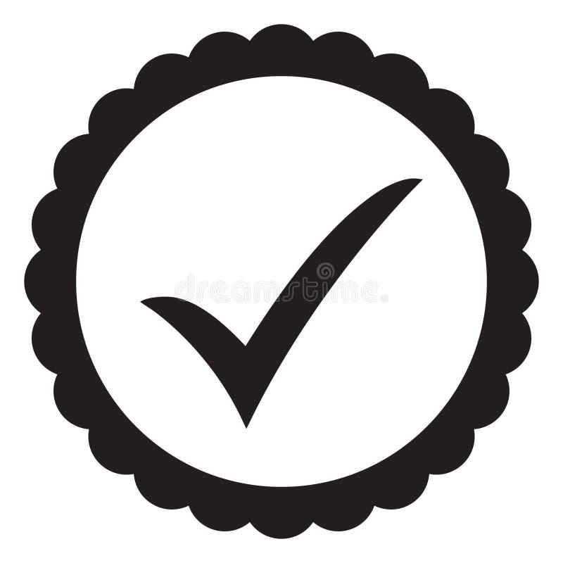 ícone aprovado Verificação do perfil Aceite o crachá ilustração stock
