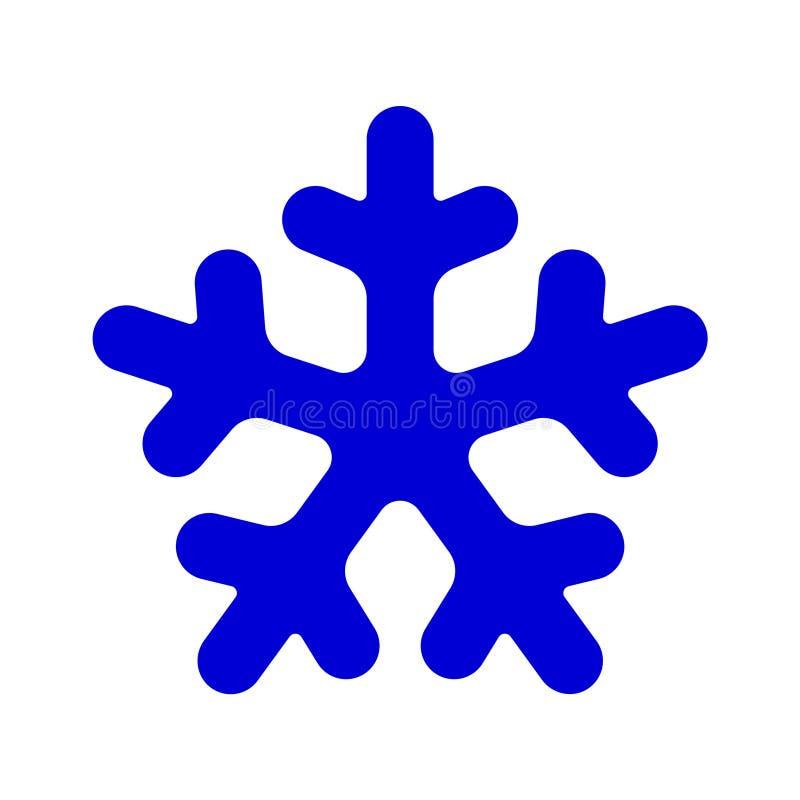 Ícone arredondado azul do molde da silhueta do floco de neve Composição na moda das formas Ilustração do vetor do ícone Eps10 do  ilustração do vetor