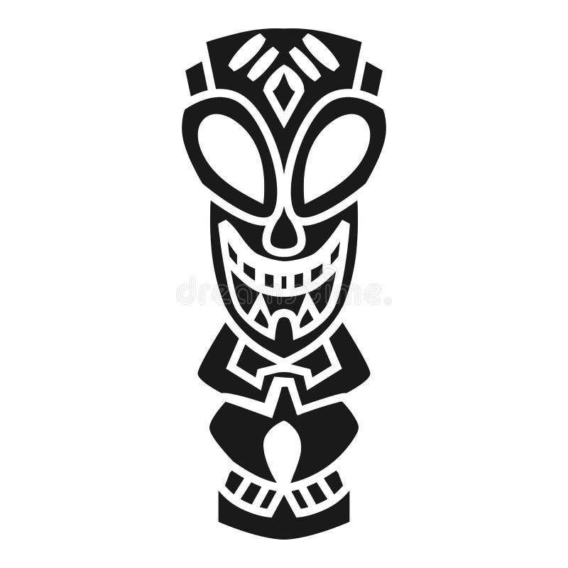 Ícone asteca do ídolo, estilo simples ilustração do vetor