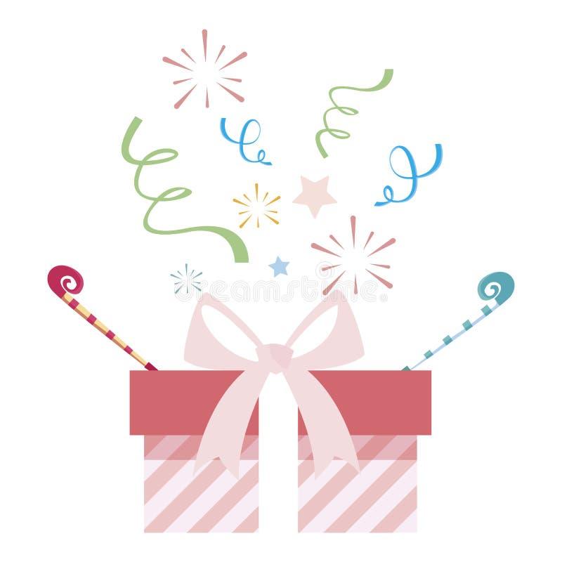 ícone atual da caixa de presente ilustração royalty free