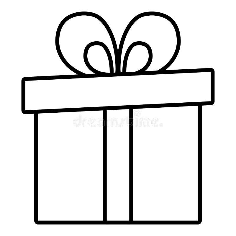 ícone atual da caixa de presente ilustração do vetor