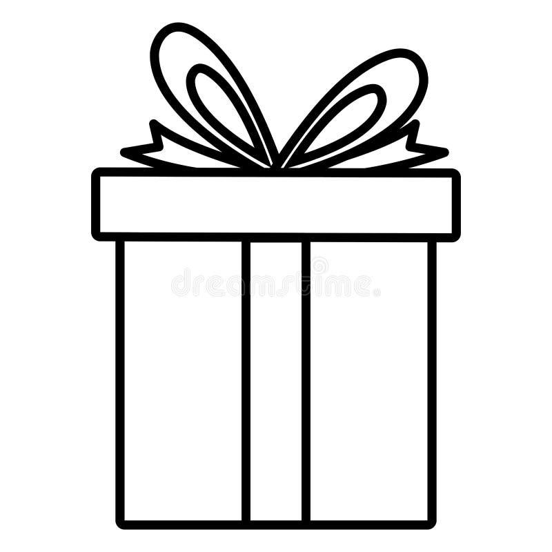 ícone atual da caixa de presente ilustração stock