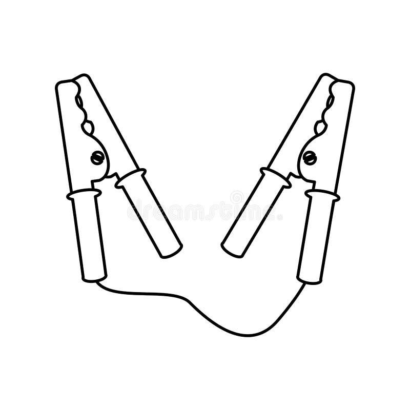 Ícone atual das braçadeiras de cabo ilustração stock