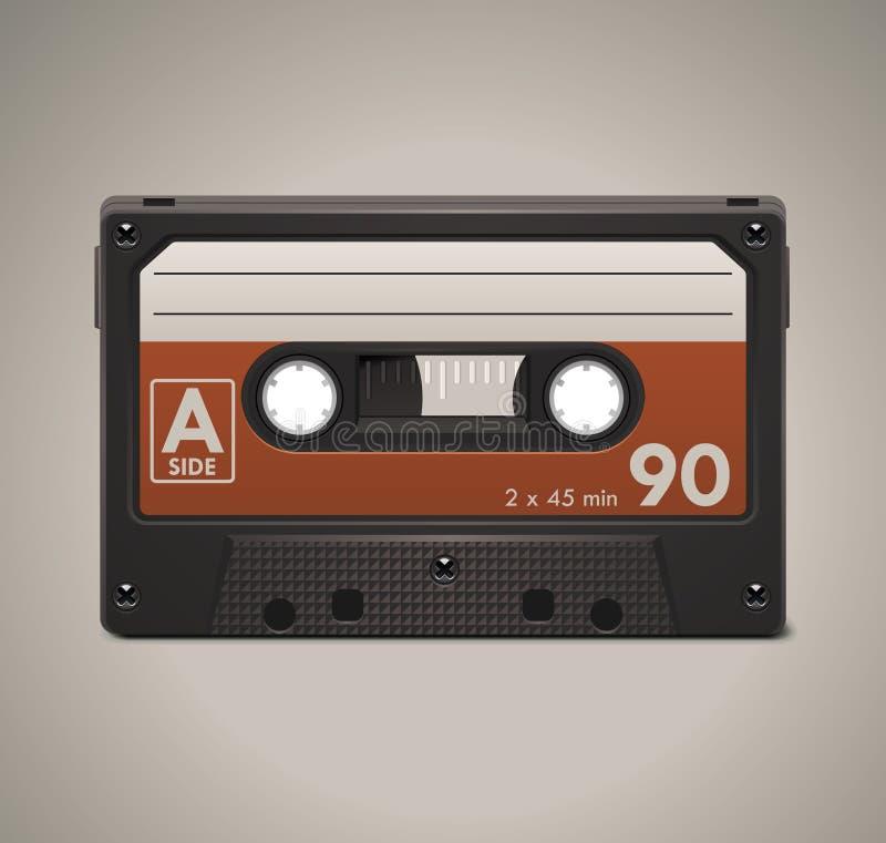 Ícone audio da cassete de banda magnética XXL do vetor ilustração royalty free