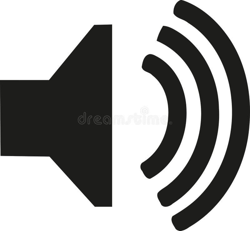 Ícone audio do orador ilustração do vetor
