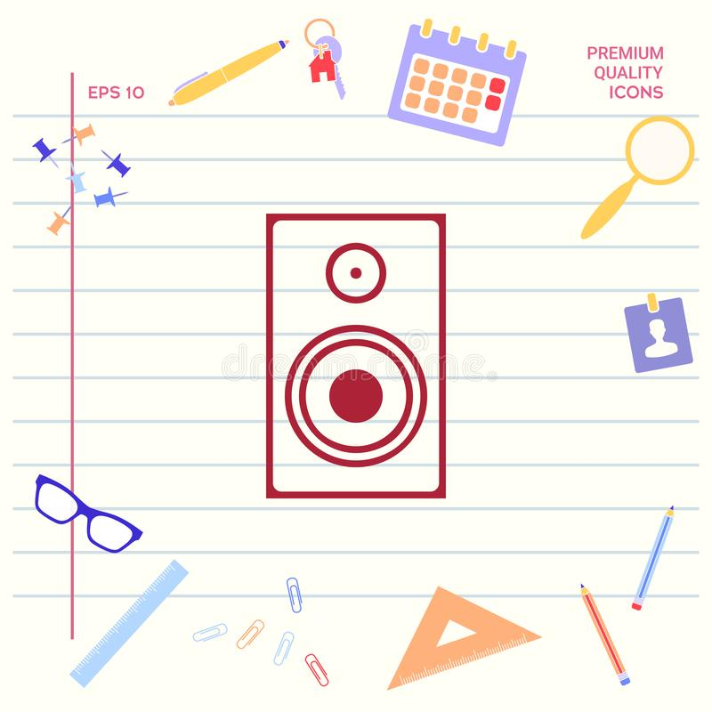 Ícone audio do orador ilustração stock