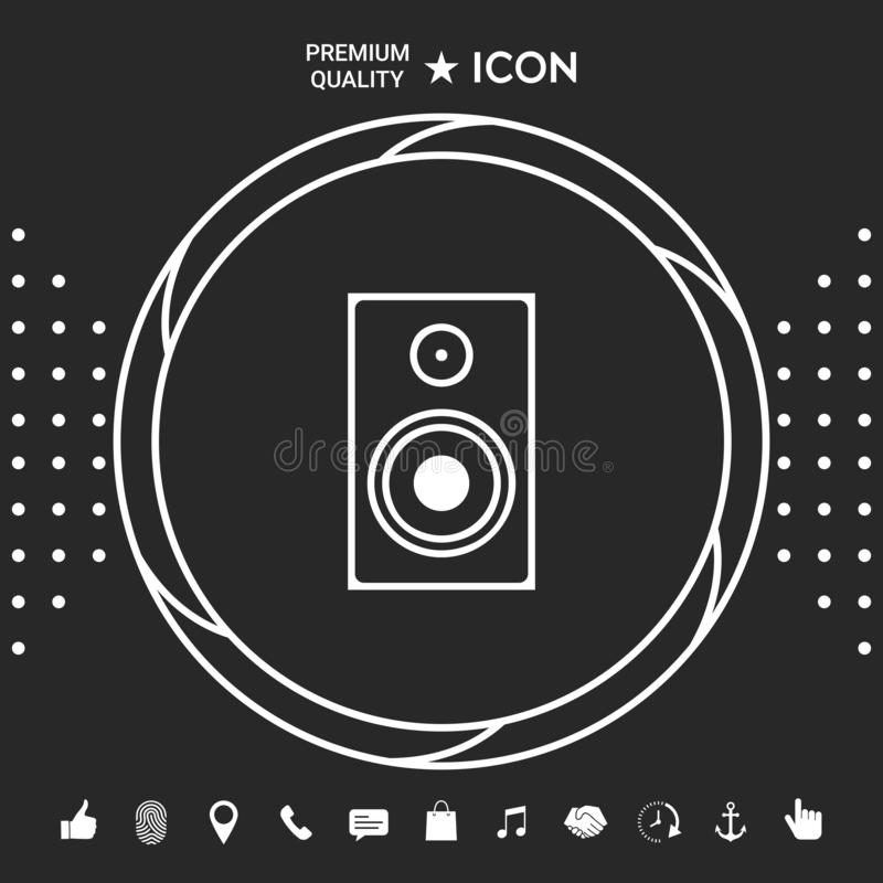 Ícone audio do orador ilustração royalty free