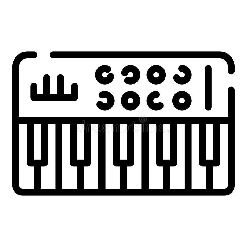 Ícone audio do sintetizador, estilo do esboço ilustração do vetor