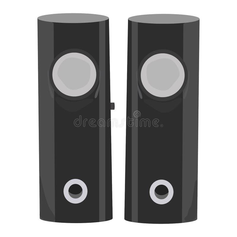 Ícone audio do vetor do orador em um fundo branco Ilustração da coluna da música isolada no branco Projeto realístico do estilo d ilustração royalty free