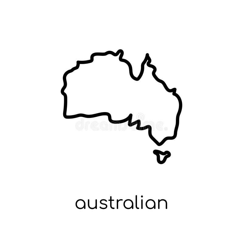Ícone australiano do continente da coleção de Austrália ilustração royalty free
