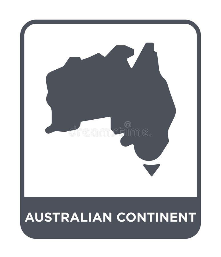 ícone australiano do continente no estilo na moda do projeto ícone australiano do continente isolado no fundo branco Continente a ilustração royalty free