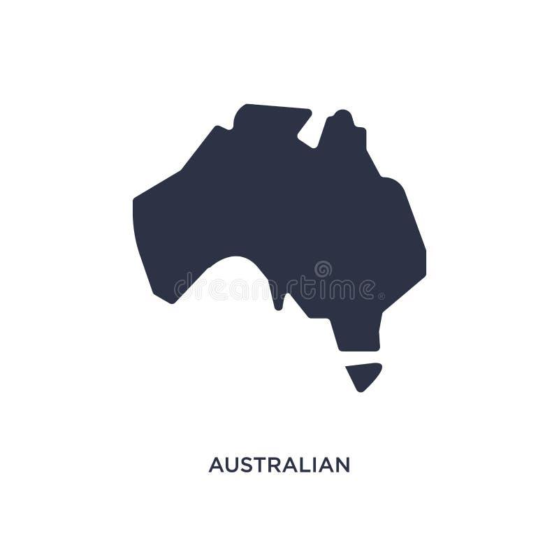 ícone australiano do continente no fundo branco Ilustração simples do elemento do conceito da cultura ilustração royalty free