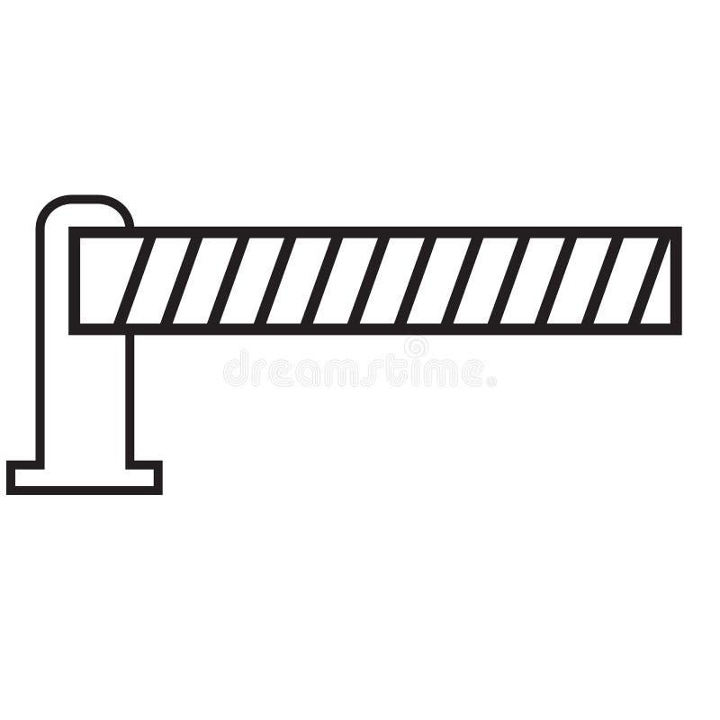 Ícone automático da barreira do carro no fundo branco Estilo liso ícone de estacionamento para seu projeto do site, logotipo da b ilustração royalty free