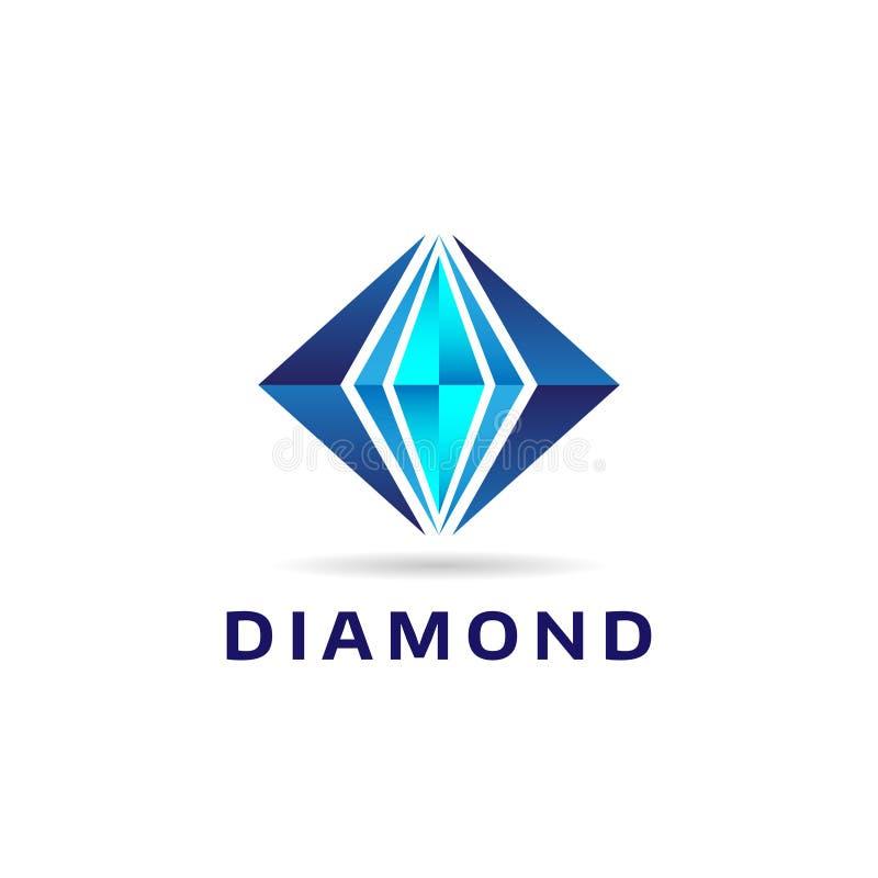 Ícone azul abstrato de Diamond Shape Logo Sign Symbol fotografia de stock