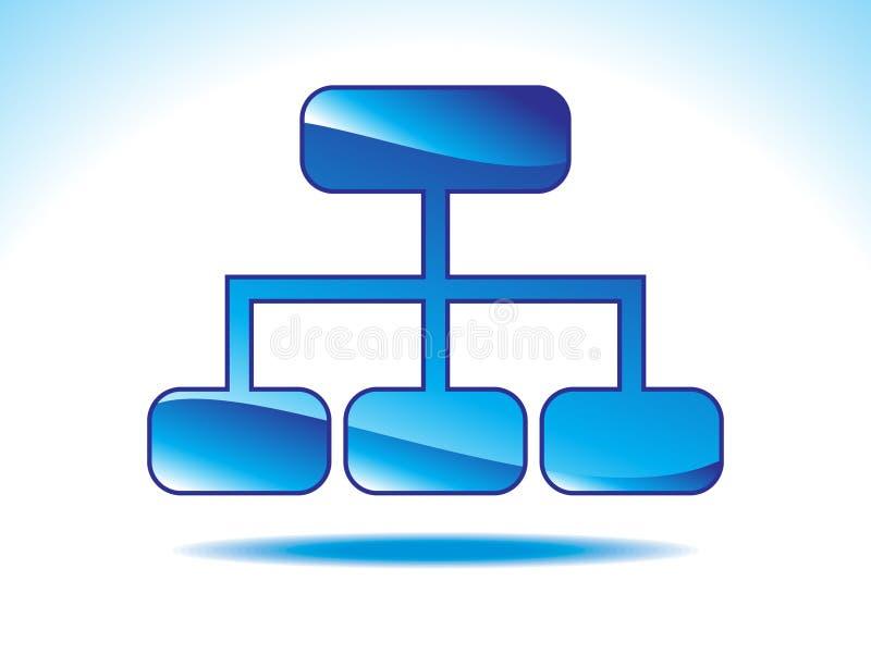 Ícone azul brilhante abstrato do sitemap ilustração stock