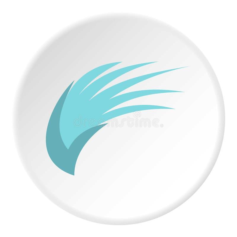 Ícone azul da asa dos pássaros, estilo liso ilustração do vetor
