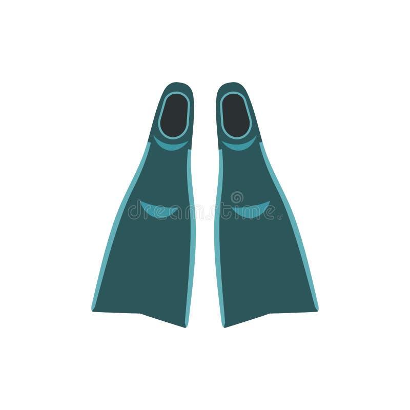 Ícone azul das aletas ilustração do vetor