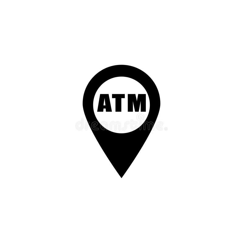 Ícone azul do banco do lugar ilustração do vetor