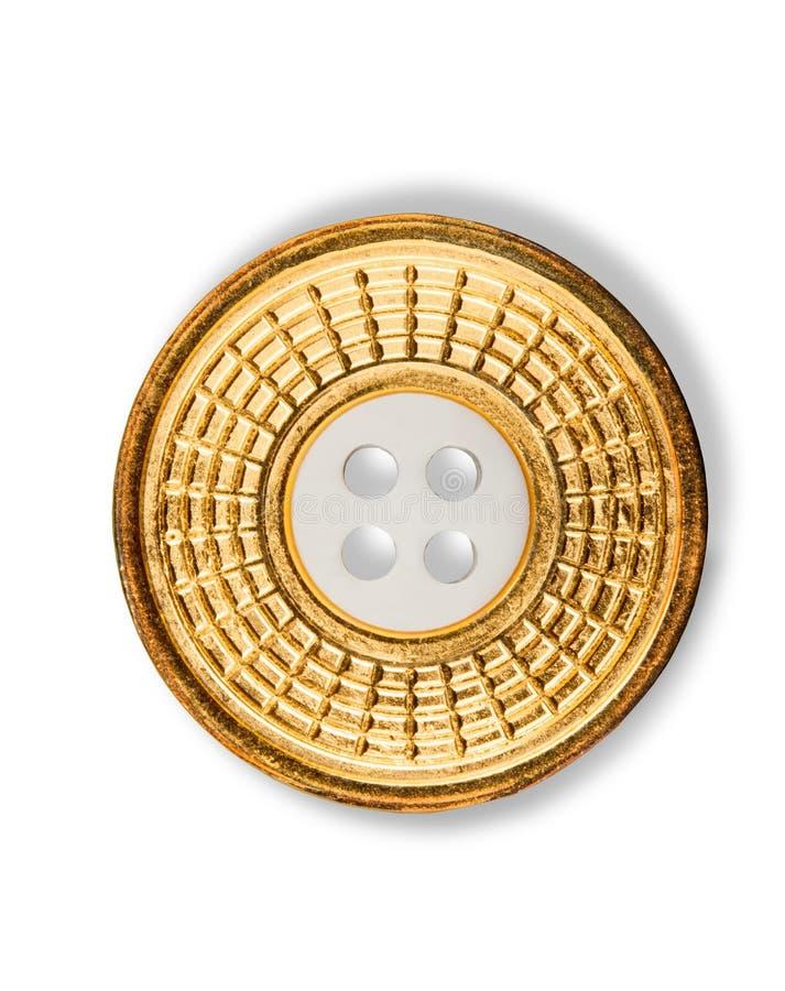 Ícone azul do botão isolado no fundo branco fotos de stock royalty free