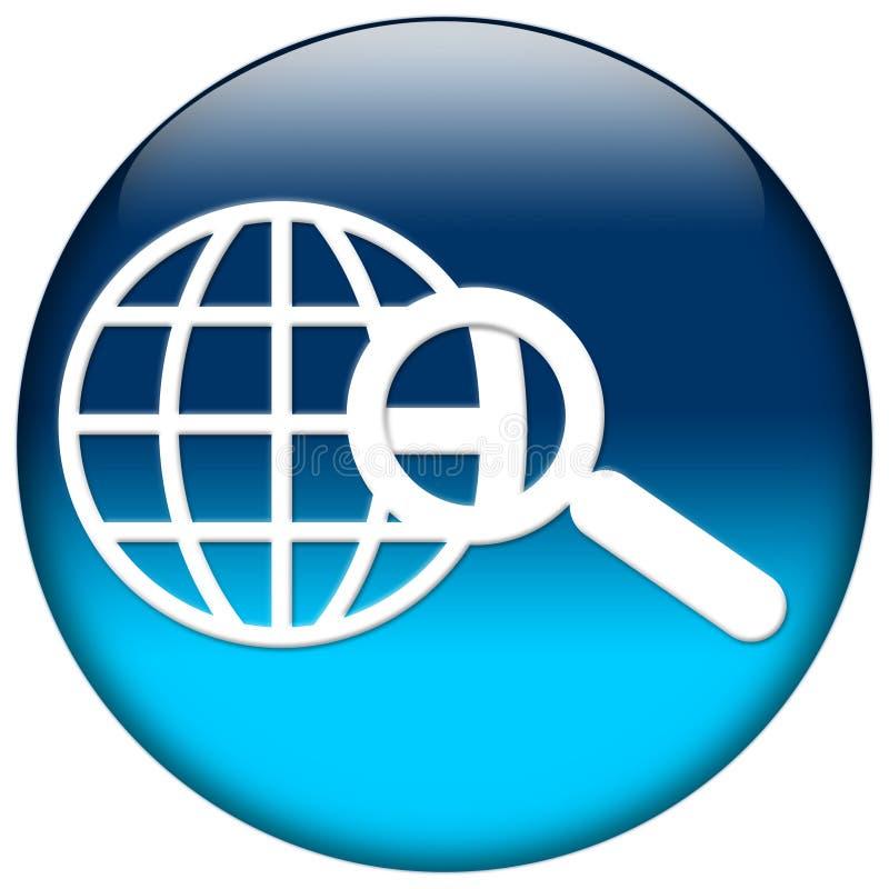 Ícone azul do Web ilustração do vetor