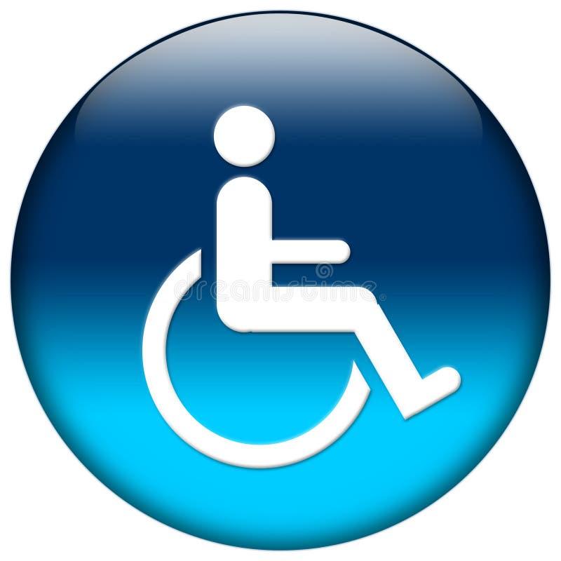 Ícone azul do Web ilustração stock