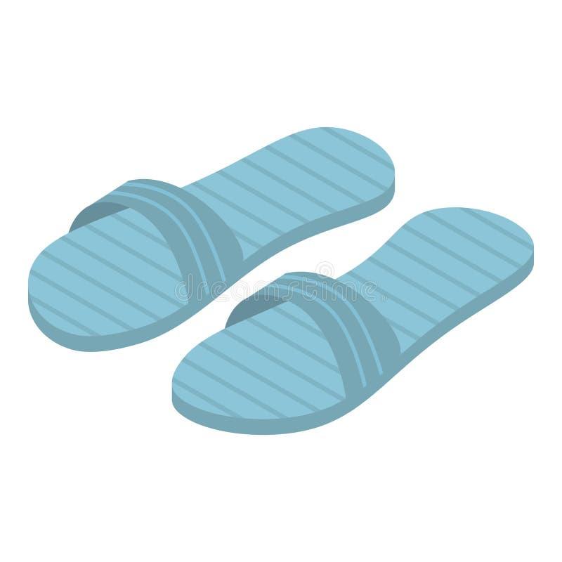 Ícone azul dos deslizadores, estilo isométrico ilustração do vetor
