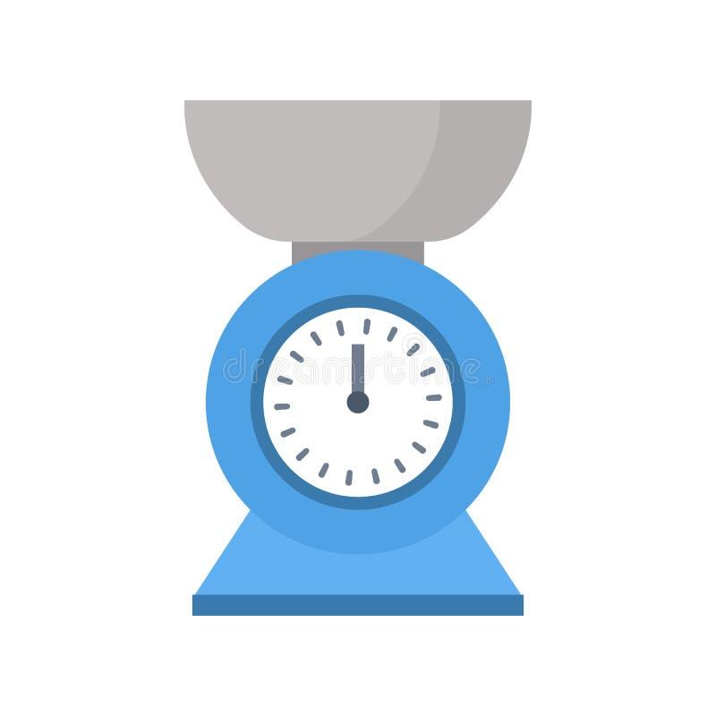 Ícone azul em um estilo liso Projeto do sinal Ilustração do vetor isolada no fundo branco Dispositivos de cozinha ou imagens de stock royalty free