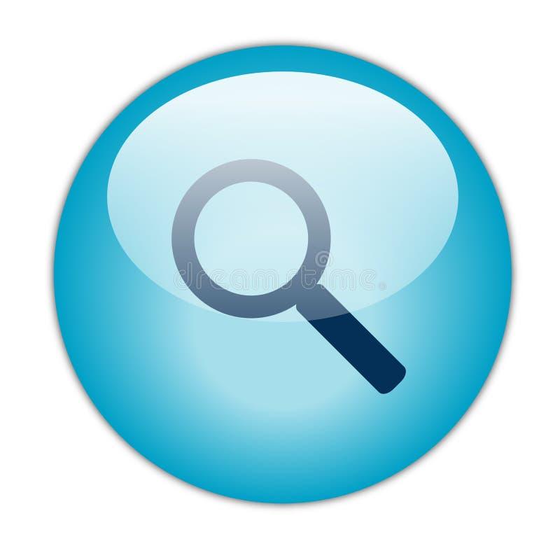 Ícone azul Glassy da busca ilustração do vetor