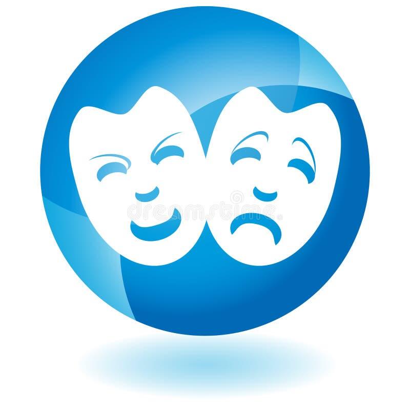 Download Ícone azul - máscaras ilustração do vetor. Ilustração de projeto - 10059741