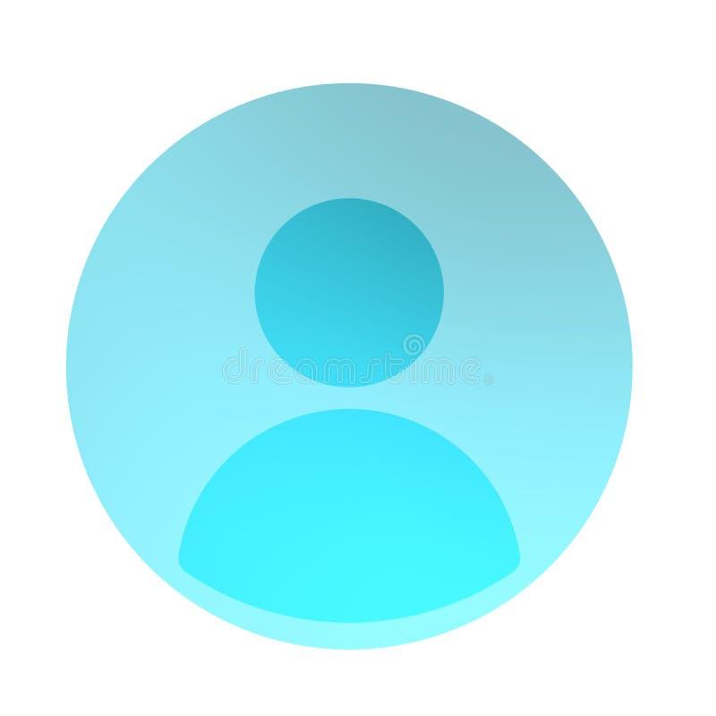 Ícone azulado do perfil social ilustração royalty free